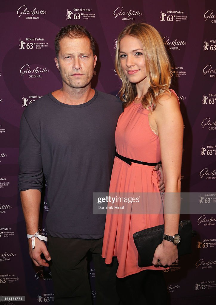Actor <a gi-track='captionPersonalityLinkClicked' href=/galleries/search?phrase=Til+Schweiger&family=editorial&specificpeople=740750 ng-click='$event.stopPropagation()'>Til Schweiger</a> and Svenja Holtmann attend 'The Necessary Death Of Charlie Countryman' Reception during the 63rd Berlinale International Film Festival at the Glashuette Lounge on February 9, 2013 in Berlin, Germany.