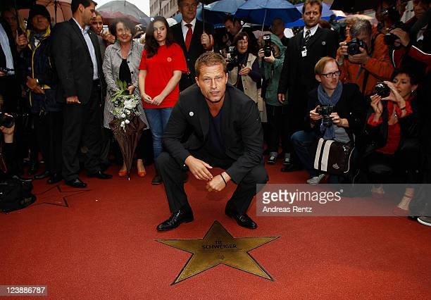Actor Til Schweiger attends a ceremony honoring him with a Star on the Berlin Walk of Fame on September 5 2011 in Berlin Germany