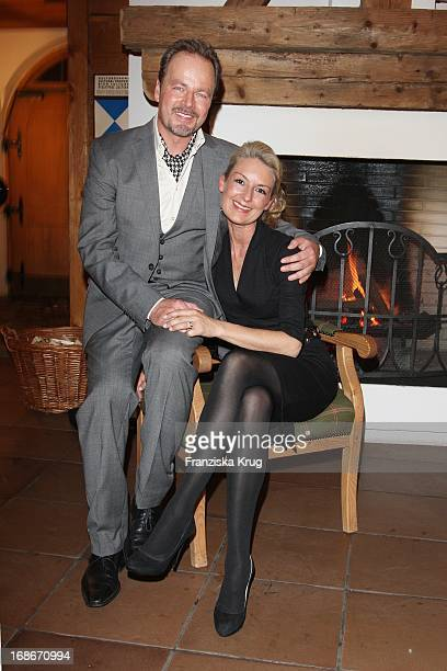 Actor Till Demtröder And His Wife Julia attend the After Party of the first celebrity Dog Sled Race in Kühtai