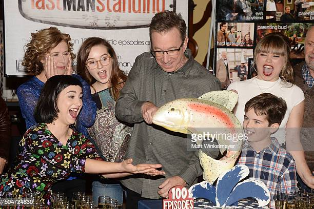 Actor Tim Allen and the cast of 'Last Man Standing' attend the 100th episode celebration of ABC's 'Last Man Standing' at CBS Studios Radford on...