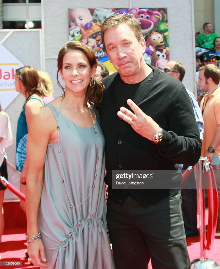 Actor Tim Allen (R) and wife Jane Hajduk attend the Los Angeles premiere of 'Toy Story 3' at the El Capitan Theatre on June 13, 2010 in Hollywood, California.