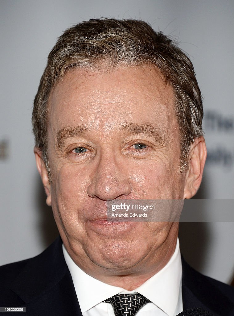Actor <a gi-track='captionPersonalityLinkClicked' href=/galleries/search?phrase=Tim+Allen&family=editorial&specificpeople=206248 ng-click='$event.stopPropagation()'>Tim Allen</a> arrives at the Midnight Mission's 'Golden Heart Awards' honoring <a gi-track='captionPersonalityLinkClicked' href=/galleries/search?phrase=Tim+Allen&family=editorial&specificpeople=206248 ng-click='$event.stopPropagation()'>Tim Allen</a> and Jason Sinay at the Beverly Wilshire Four Seasons Hotel on May 6, 2013 in Beverly Hills, California.