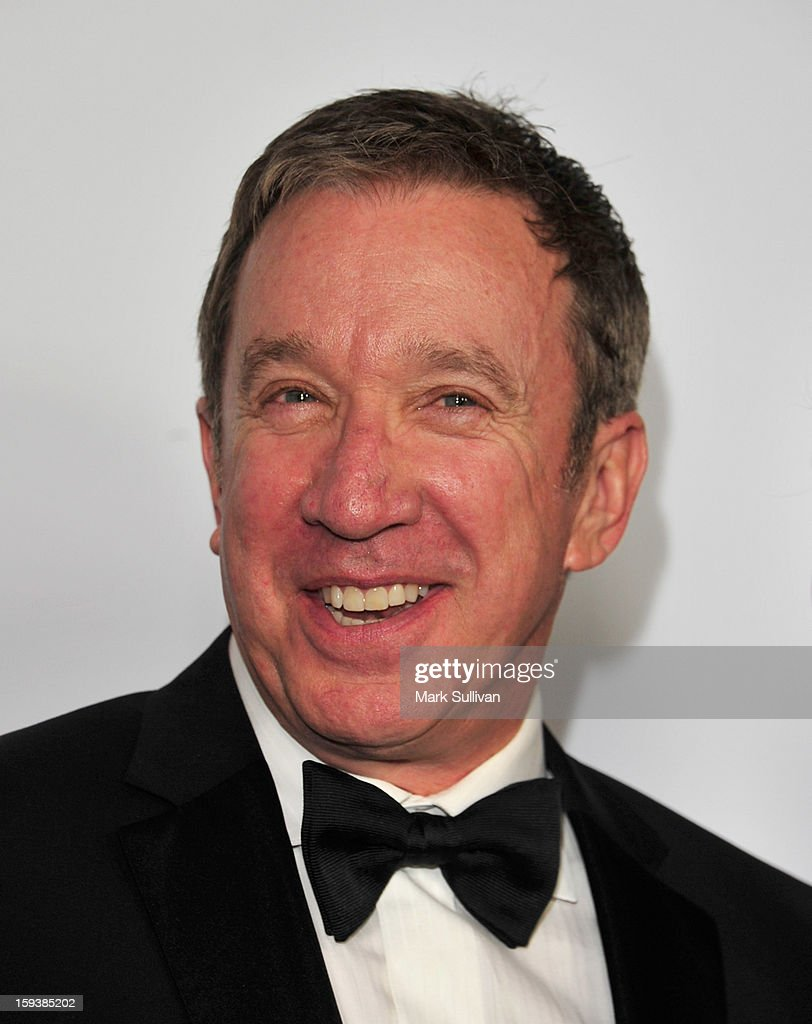 Actor <a gi-track='captionPersonalityLinkClicked' href=/galleries/search?phrase=Tim+Allen&family=editorial&specificpeople=206248 ng-click='$event.stopPropagation()'>Tim Allen</a> arrives for the G'Day USA Black Tie Gala held at at the JW Marriot at LA Live on January 12, 2013 in Los Angeles, California.