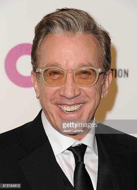 Actor Tim Allen attends the 24th annual Elton John AIDS Foundation's Oscar viewing party on February 28 2016 in West Hollywood California