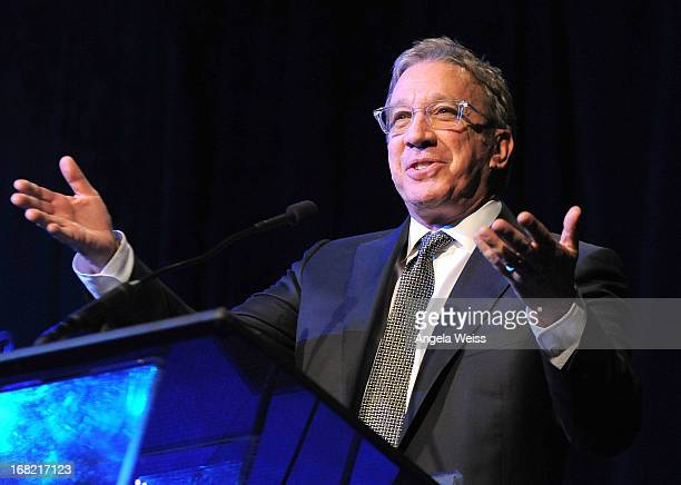 Actor Tim Allen speaks at the Midnight Mission Golden Heart Awards 2013 at the Beverly Wilshire Four Seasons Hotel on May 6 2013 in Beverly Hills...