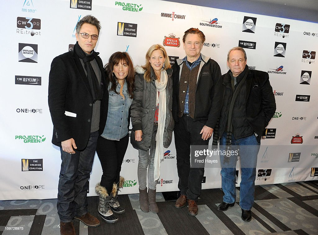 Actor <a gi-track='captionPersonalityLinkClicked' href=/galleries/search?phrase=Tim+Daly&family=editorial&specificpeople=206405 ng-click='$event.stopPropagation()'>Tim Daly</a>, producer <a gi-track='captionPersonalityLinkClicked' href=/galleries/search?phrase=Robin+Bronk&family=editorial&specificpeople=653341 ng-click='$event.stopPropagation()'>Robin Bronk</a>, actress <a gi-track='captionPersonalityLinkClicked' href=/galleries/search?phrase=Joey+Lauren+Adams&family=editorial&specificpeople=621841 ng-click='$event.stopPropagation()'>Joey Lauren Adams</a> and actors <a gi-track='captionPersonalityLinkClicked' href=/galleries/search?phrase=Bill+Pullman&family=editorial&specificpeople=226899 ng-click='$event.stopPropagation()'>Bill Pullman</a> and Paul Austin attend the Sundance Film Festival: Creative Coalition Luncheon at The Sky Lodge during the 2013 Sundance Film Festival on January 19, 2013 in Park City, Utah.