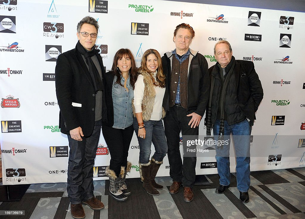 Actor Tim Daly, producer Robin Bronk, actress Joey Lauren Adams and actors Bill Pullman and Paul Austin attend the Sundance Film Festival: Creative Coalition Luncheon at The Sky Lodge during the 2013 Sundance Film Festival on January 19, 2013 in Park City, Utah.