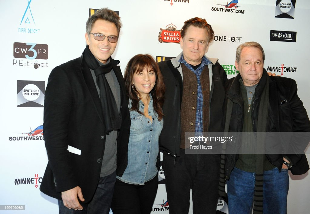 Actor Tim Daly, producer Robin Bronk and actors Bill Pullman and Paul Austin attend the Sundance Film Festival: Creative Coalition Luncheon at The Sky Lodge during the 2013 Sundance Film Festival on January 19, 2013 in Park City, Utah.