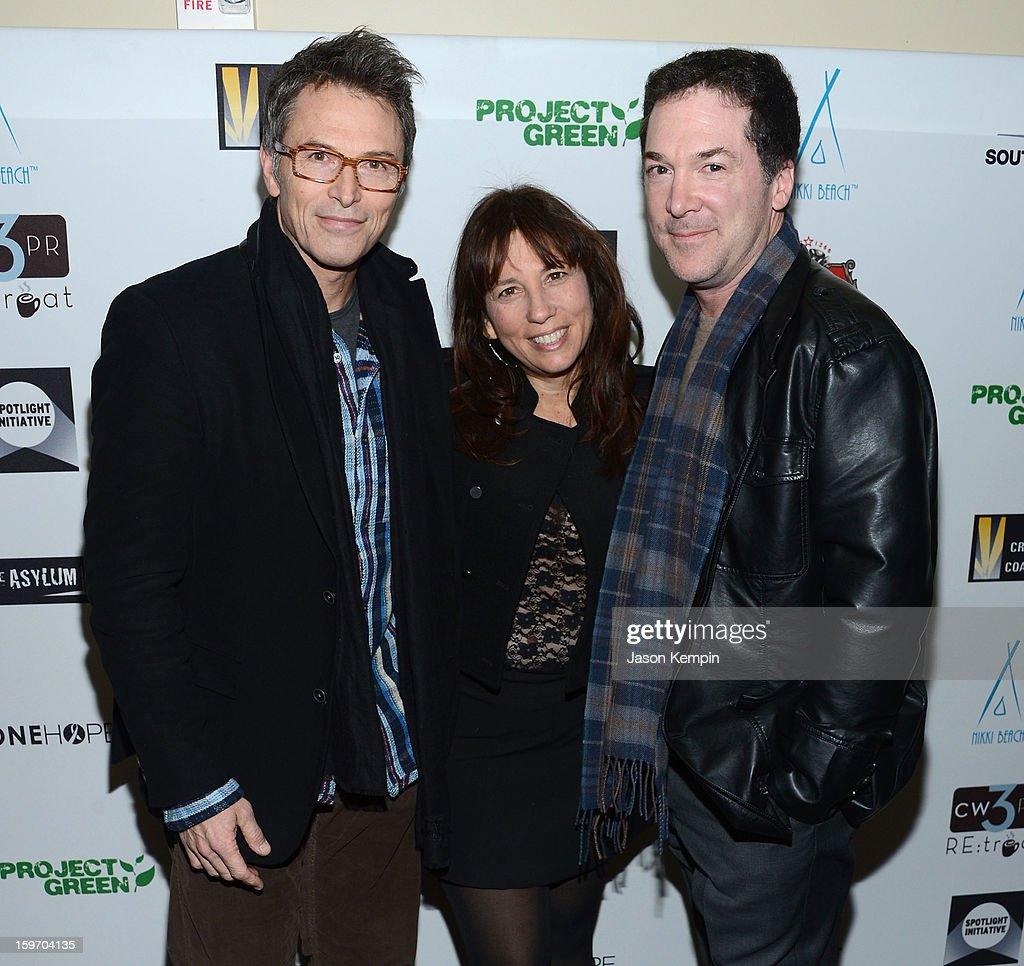 Actor <a gi-track='captionPersonalityLinkClicked' href=/galleries/search?phrase=Tim+Daly&family=editorial&specificpeople=206405 ng-click='$event.stopPropagation()'>Tim Daly</a>, <a gi-track='captionPersonalityLinkClicked' href=/galleries/search?phrase=Robin+Bronk&family=editorial&specificpeople=653341 ng-click='$event.stopPropagation()'>Robin Bronk</a> and David Latt attend the Creative Coalition's Sundance Film Festival: Passion...A Dinner Of Indie Chic at The Sky Lodge on January 18, 2013 in Park City, Utah.