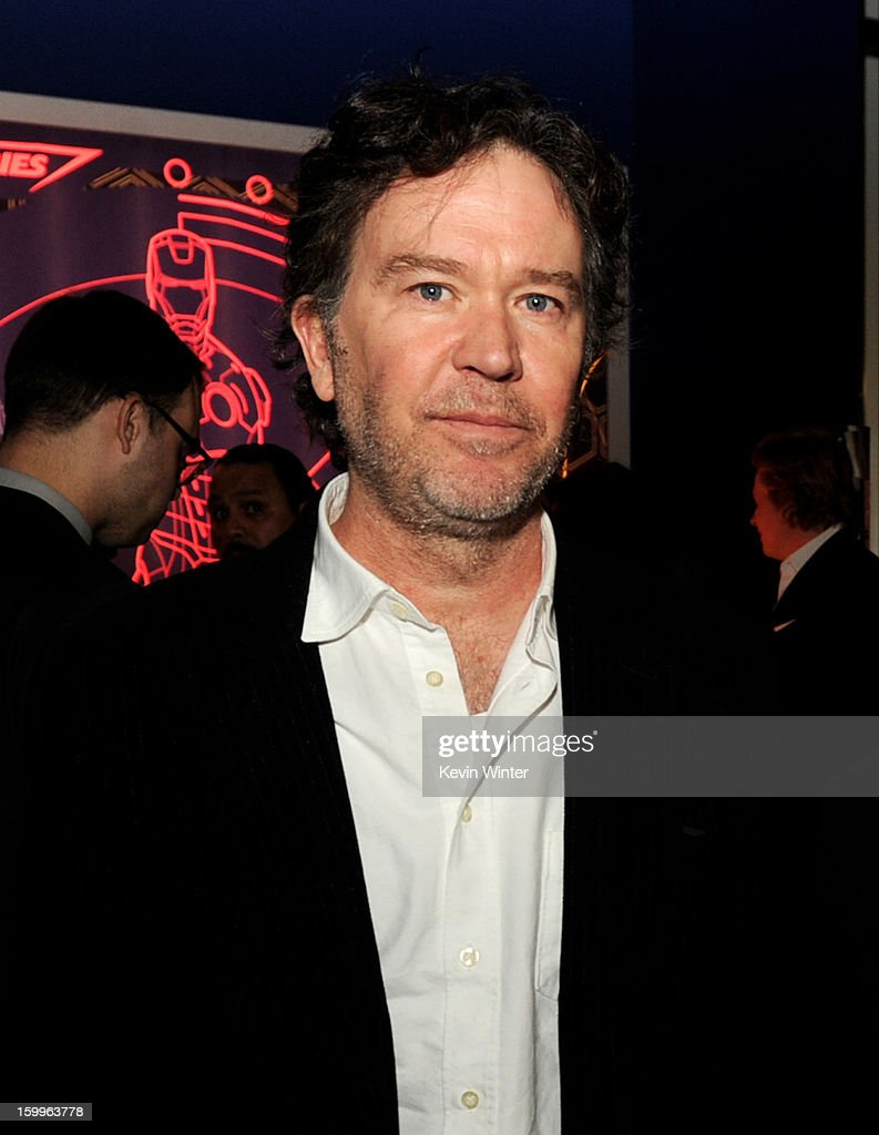 Actor Tim Hutton poses at the after party for the premiere of Relativity Media's 'Movie 43' at Madame Tussaud's Hollywood on January 23, 2013 in Los Angeles, California.