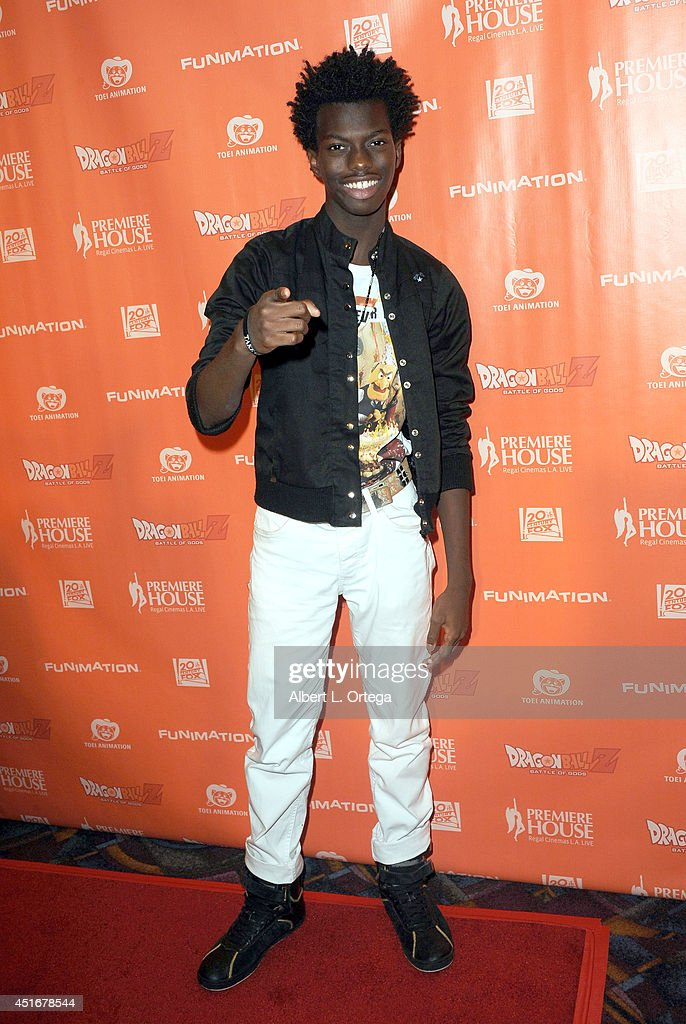 Actor Tim Johnson Jr. arrives for the Premiere Of 'Dragon Ball