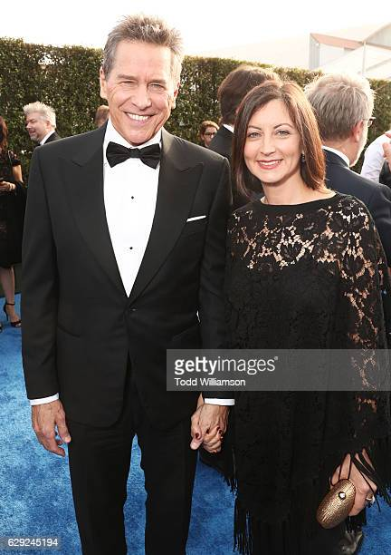 Actor Tim Matheson and actress Meghan Murphy attend the 22nd annual Critics' Choice Awards with Porsche and the 2017 Panamera 4 EHybrid Executive at...