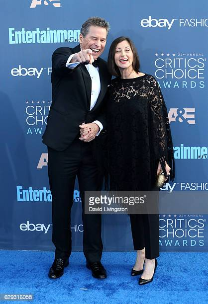 Actor Tim Matheson and Meghan Murphy attend the 22nd Annual Critics' Choice Awards at Barker Hangar on December 11 2016 in Santa Monica California