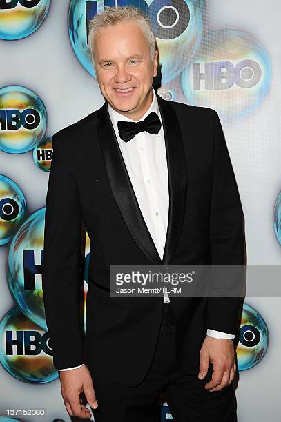 Actor Tim Robbins arrives at HBO's Post 2012 Golden Globe Awards Party at Circa 55 Restaurant on January 15 2012 in Beverly Hills California