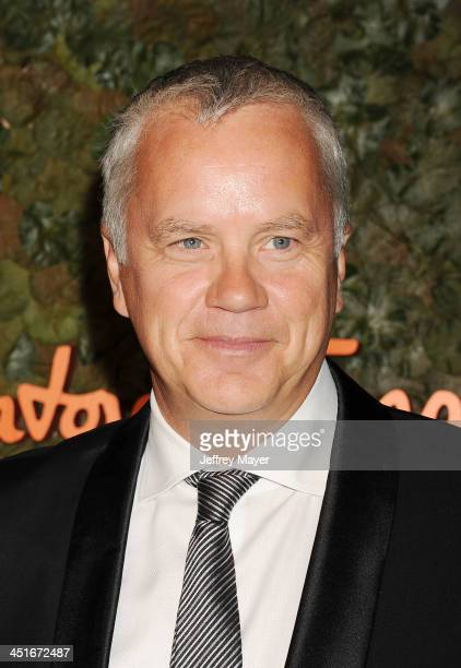 Actor Tim Robbins arrives at the Wallis Annenberg Center For The Performing Arts Inaugural Gala at Wallis Annenberg Center for the Performing Arts on...