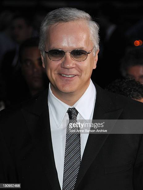 Actor Tim Robbins attends the Partouche Charity Poker Tournament at Palm Beach during the 61st Cannes International Film Festival on May 17 2008 in...