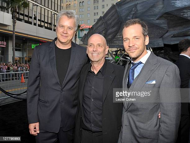 Actor Tim Robbins director Martin Campbell and actor Peter Sarsgaard arrives at the 'Green Lantern' Los Angeles Premiere held at at Grauman's Chinese...