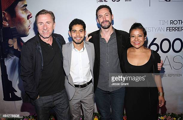 Actor Tim Roth actor Kristyan Ferrer director Gabriel Ripstein and actress Monica del Carmen attend the Mexican premiere of '600 Millas'during The...