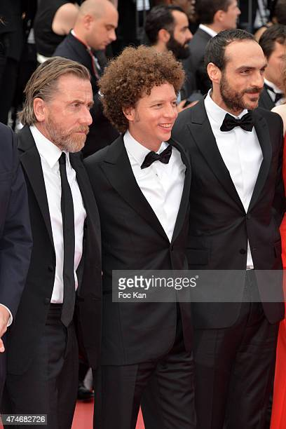 Actor Tim Roth director Michel Franco and Gabriel Ripstein attend the closing ceremony and Premiere of 'La Glace Et Le Ciel' during the 68th annual...