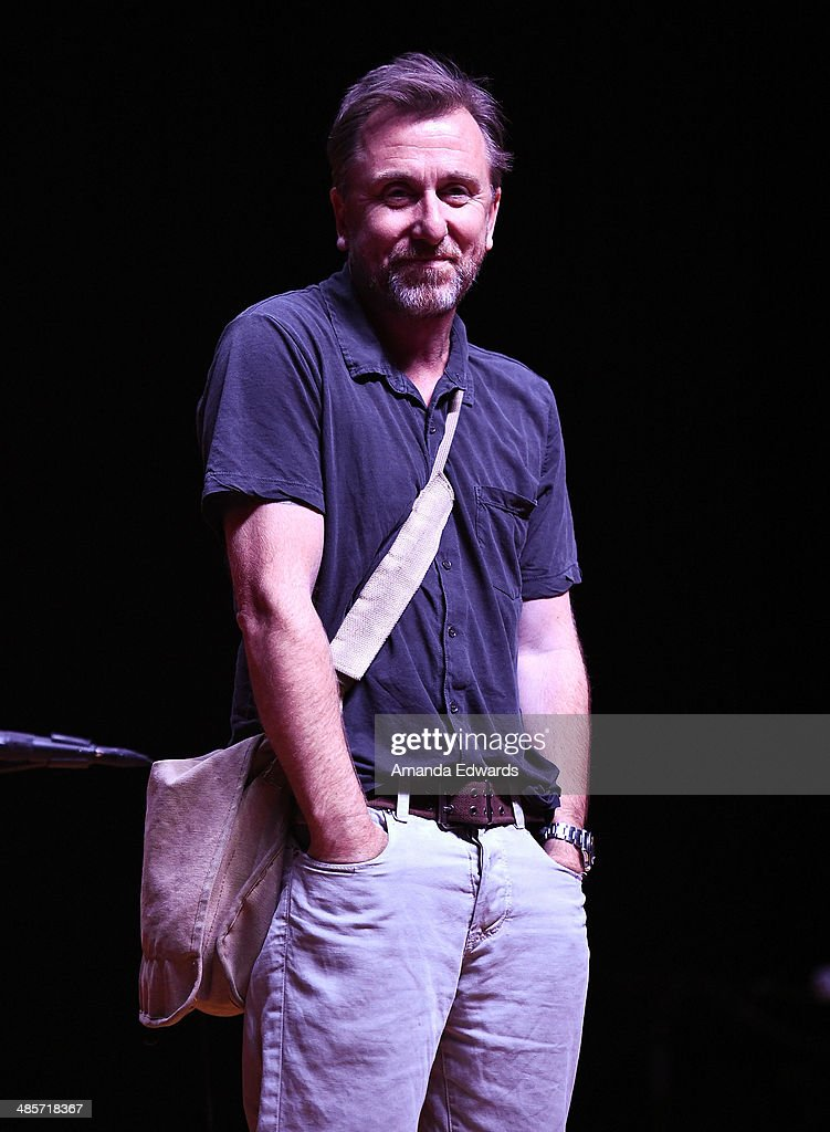 Actor Tim Roth participates in the world premiere of a staged reading by Quentin Tarantino: 'The Hateful Eight' presented by Film Independent at The Theatre at Ace Hotel Downtown LA on April 19, 2014 in Los Angeles, California.