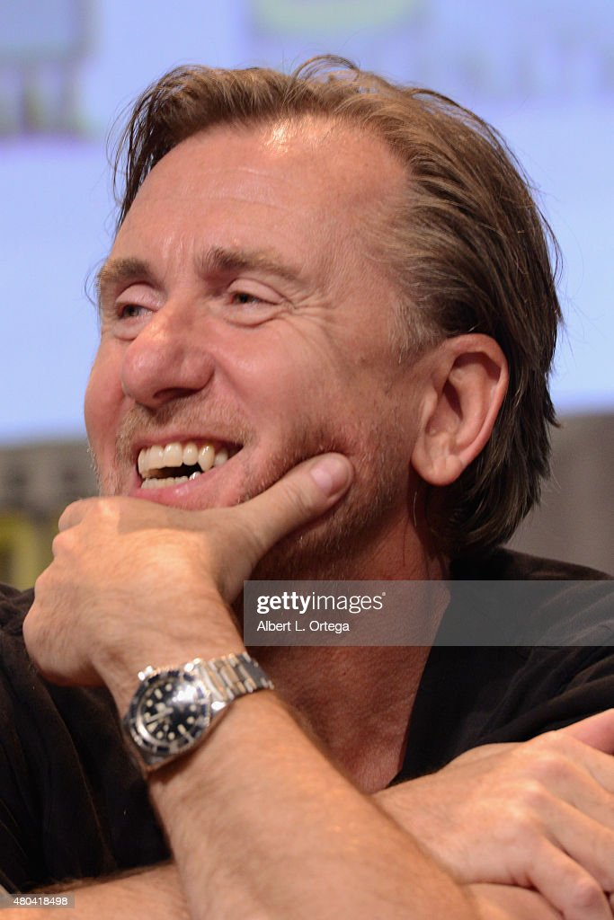 Actor Tim Roth speaks onstage at Quentin Tarantino's 'The Hateful Eight' panel during Comic-Con International 2015 at the San Diego Convention Center on July 11, 2015 in San Diego, California.