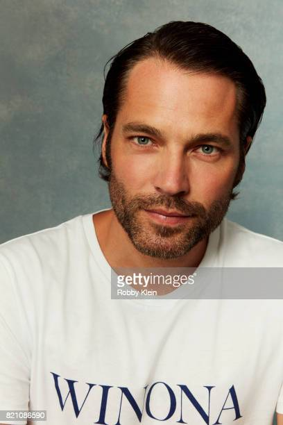 Actor Tim Rozon from Syfy's 'Wynonna Earp' poses for a portrait during ComicCon 2017 at Hard Rock Hotel San Diego on July 20 2017 in San Diego...