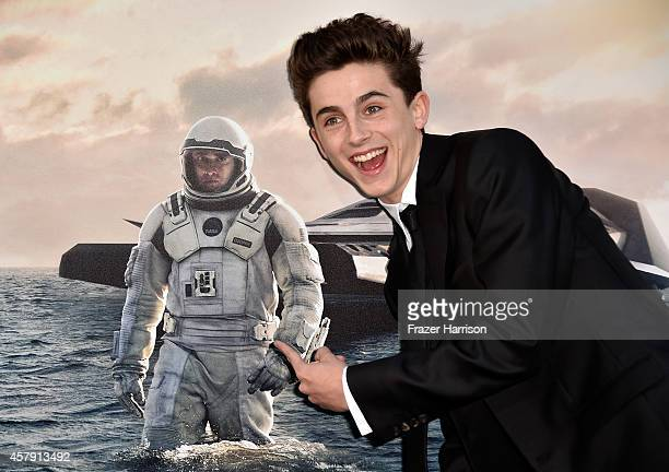 Actor Timothée Chalamet attends the premiere of Paramount Pictures' 'Interstellar' at TCL Chinese Theatre IMAX on October 26 2014 in Hollywood...