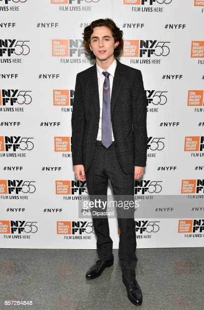 Actor Timothee Chalamet attends a screening of 'Call Me by Your Name' during the 55th New York Film Festival at Alice Tully Hall on October 3 2017 in...