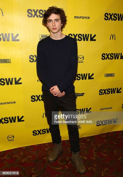 Actor Timothee Chalamet attends Imperative Entertainment's 'Hot Summer Nights' SXSW world premiere at Paramount Theatre on March 13 2017 in Austin...