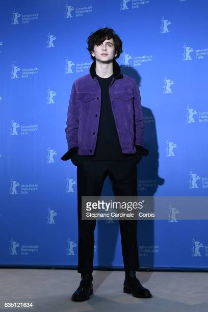 Actor Timothee Chalamet attends the 'Call Me by Your Name' photo call during the 67th Berlinale International Film Festival Berlin at Grand Hyatt...
