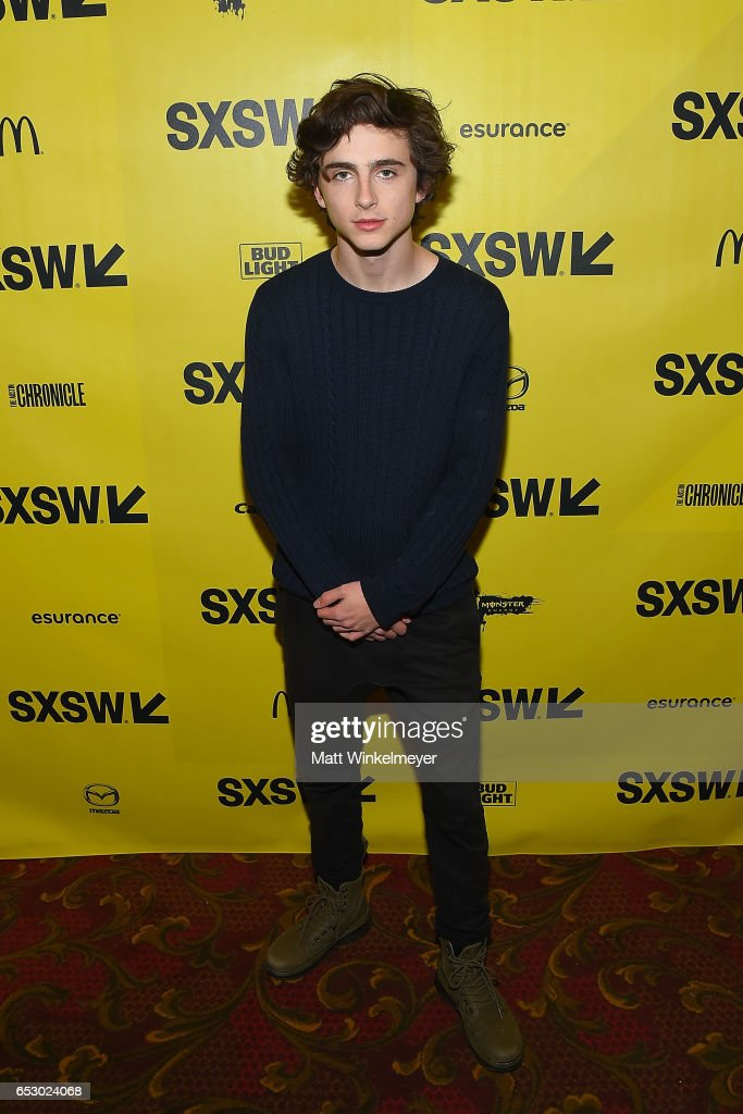 Actor Timothee Chalamet attends the 'Hot Summer Nights' premiere 2017 SXSW Conference and Festivals on March 13, 2017 in Austin, Texas.