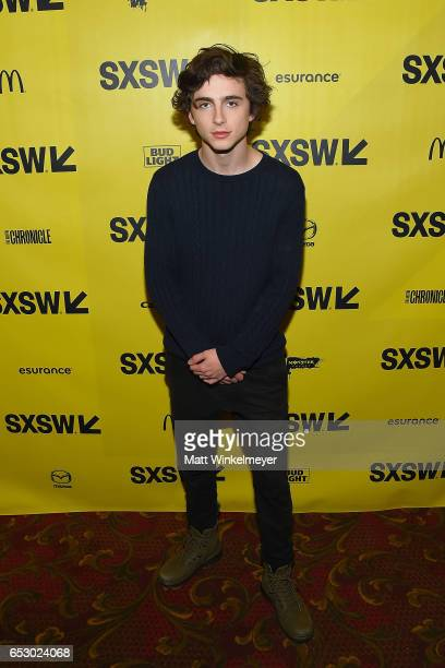 Actor Timothee Chalamet attends the 'Hot Summer Nights' premiere 2017 SXSW Conference and Festivals on March 13 2017 in Austin Texas