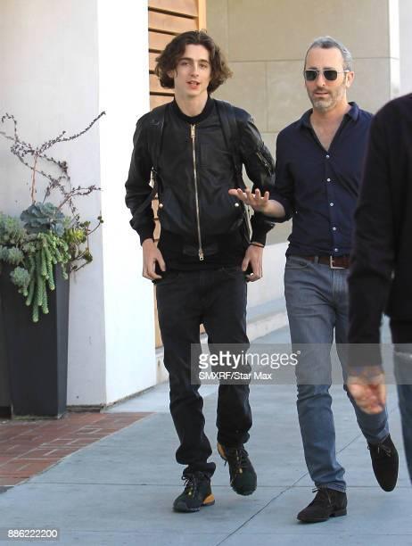 Actor Timothee Chalamet is seen on December 4 2017 in Los Angeles CA