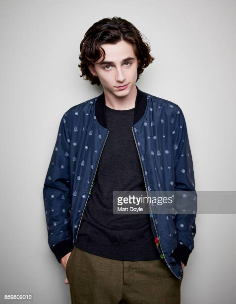 Actor Timothee Chalamet poses for a portrait at the 55th New York Film Festival on October 4 2017