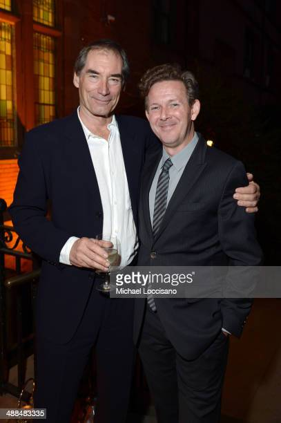 Actor Timothy Dalton and executive producer John Logan attends Showtime's 'PENNY DREADFUL' world premiere at The High Line Hotel on May 6 2014 in New...