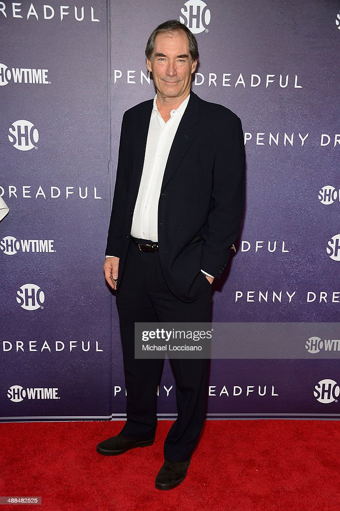 Actor <a gi-track='captionPersonalityLinkClicked' href=/galleries/search?phrase=Timothy+Dalton&family=editorial&specificpeople=655259 ng-click='$event.stopPropagation()'>Timothy Dalton</a> arrives at Showtime's 'PENNY DREADFUL' world premiere at The High Line Hotel on May 6, 2014 in New York City.