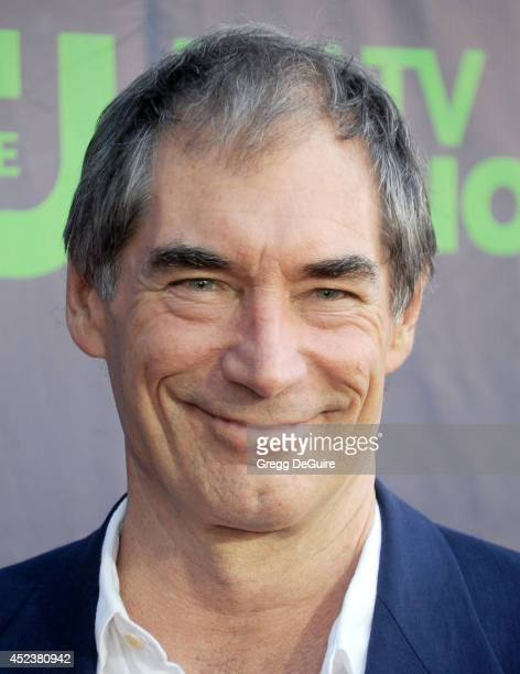 Actor Timothy Dalton arrives at the 2014 Television Critics Association Summer Press Tour CBS CW And Showtime Party at Pacific Design Center on July...