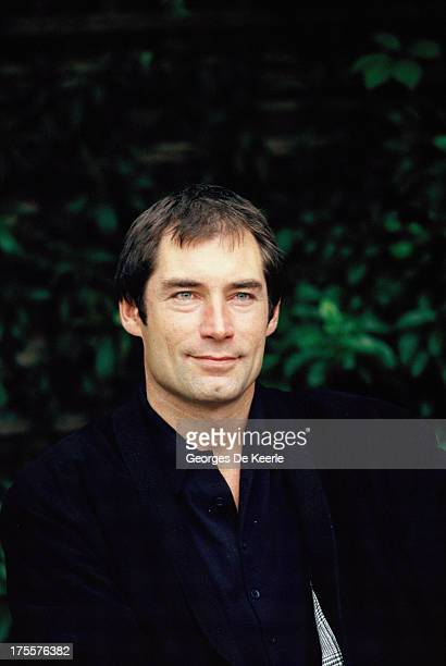 Actor Timothy Dalton attends a photocall for the promotion of the James Bond film 'The Living Daylights' directed by John Glen on June 1987 in London...