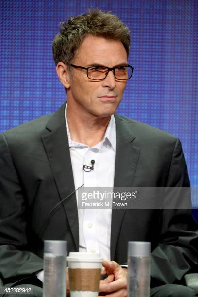 Actor Timothy Daly speaks onstage at the 'Madam Secretary' panel during the CBS Network portion of the 2014 Summer Television Critics Association at...