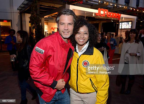 Actor Timothy Olyphant and City Year Los Angeles AmeriCorps member attend the City Year Los Angeles 'Spring Break' Fundraiser at Sony Studios on...
