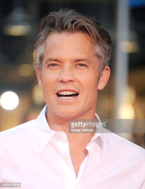 Actor Timothy Olyphant arrives at the Los Angeles premiere of 'This Is Where I Leave You' at TCL Chinese Theatre on September 15 2014 in Hollywood...