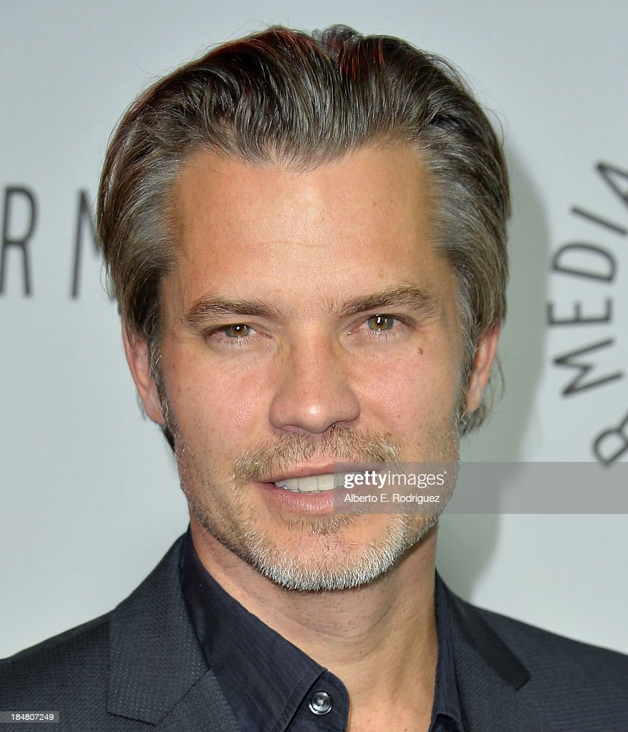 Actor <a gi-track='captionPersonalityLinkClicked' href=/galleries/search?phrase=Timothy+Olyphant&family=editorial&specificpeople=589275 ng-click='$event.stopPropagation()'>Timothy Olyphant</a> arrives at The Paley Center for Media's 2013 benefit gala honoring FX Networks with the Paley Prize for Innovation & Excellence at Fox Studio Lot on October 16, 2013 in Century City, California.