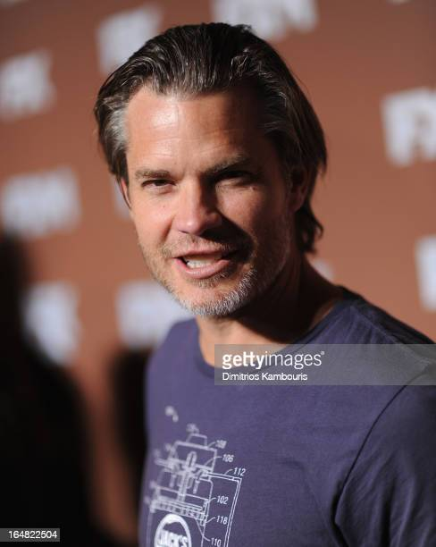 Actor Timothy Olyphant attends the 2013 FX Upfront Bowling Event at Luxe at Lucky Strike Lanes on March 28 2013 in New York City
