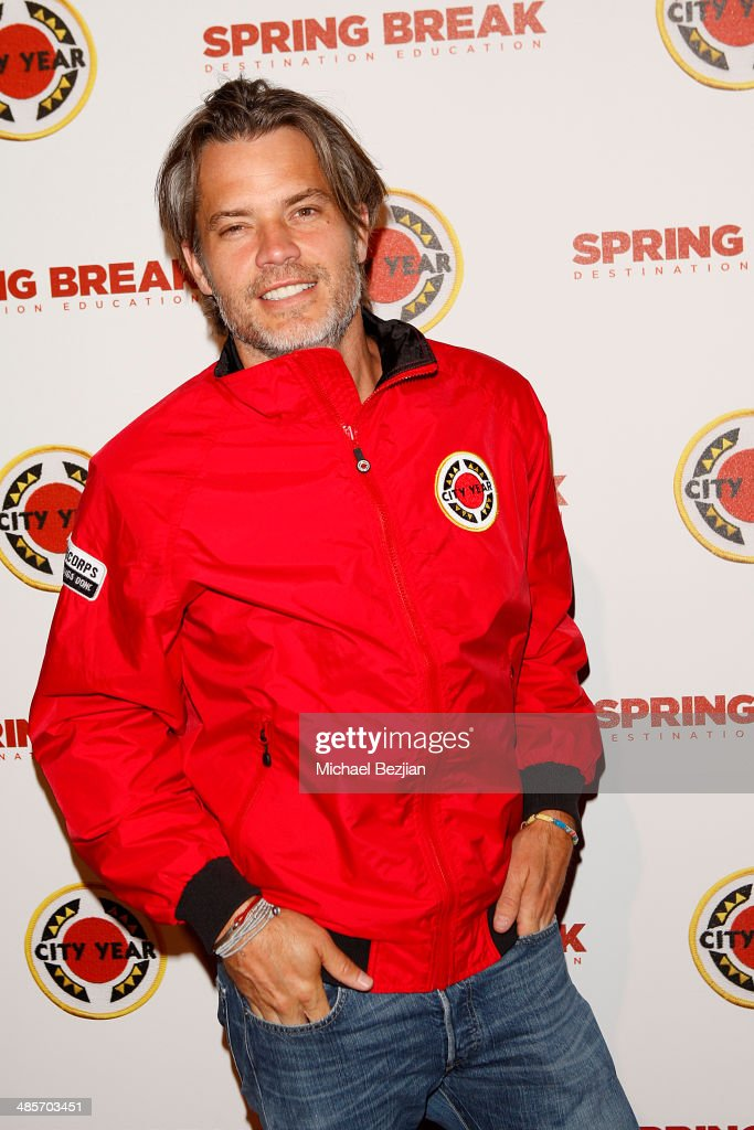 Actor <a gi-track='captionPersonalityLinkClicked' href=/galleries/search?phrase=Timothy+Olyphant&family=editorial&specificpeople=589275 ng-click='$event.stopPropagation()'>Timothy Olyphant</a> attends the City Year Los Angeles 'Spring Break' Fundraiser at Sony Studios on April 19, 2014 in Los Angeles, California.