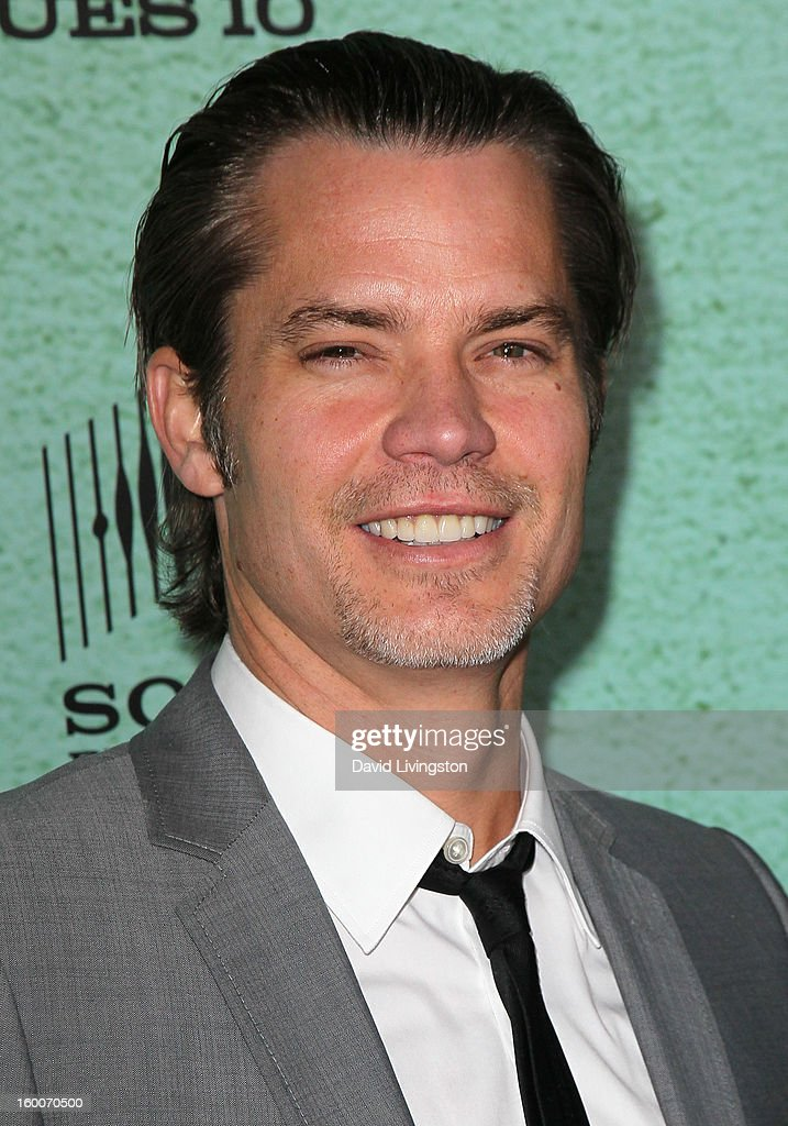 Actor Timothy Olyphant attends the premiere of FX's 'Justified' Season 4 at the Paramount Theater on the Paramount Studios lot on January 5, 2013 in Hollywood, California.