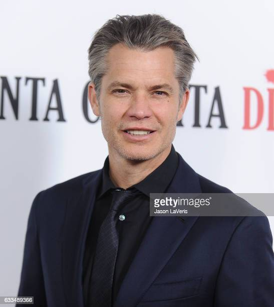 Actor Timothy Olyphant attends the premiere of 'Santa Clarita Diet' at ArcLight Cinemas Cinerama Dome on February 1 2017 in Hollywood California