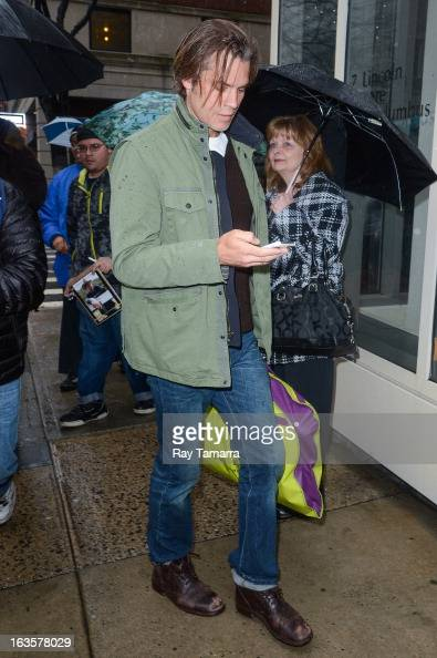 Actor Timothy Olyphant enters the 'Live With Kelly And Michael' taping at the ABC Lincoln Center Studios on March 12 2013 in New York City