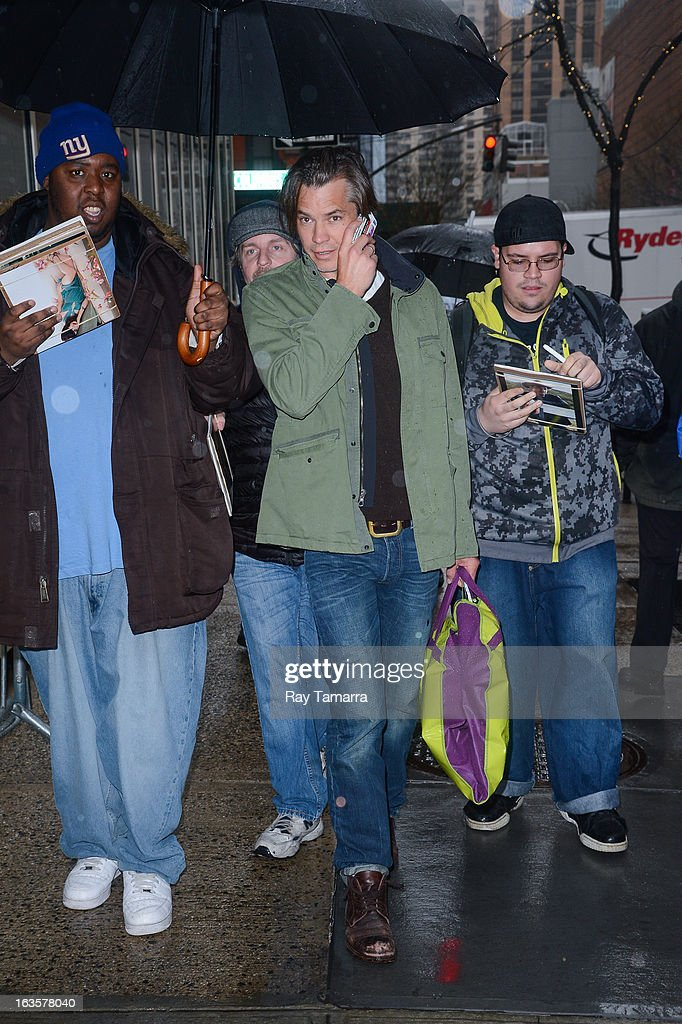 Actor Timothy Olyphant enters the 'Live With Kelly And Michael' taping at the ABC Lincoln Center Studios on March 12, 2013 in New York City.