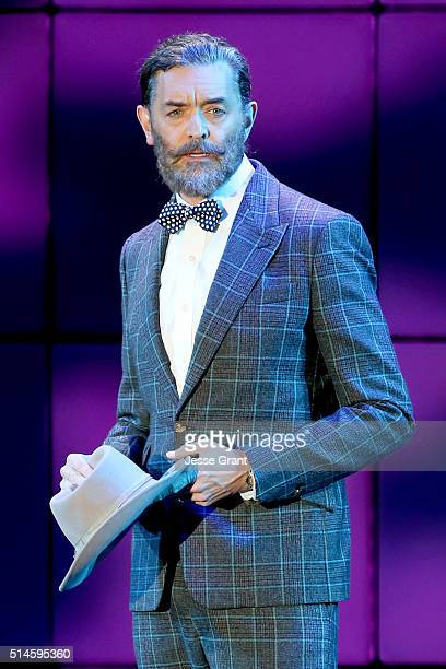 Actor Timothy Omundson performs onstage during the 24th and final 'A Night at Sardi's' to benefit the Alzheimer's Association at The Beverly Hilton...
