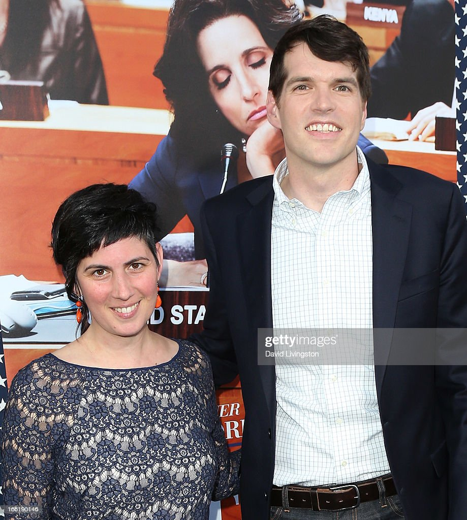 Actor Timothy Simons (R) and wife Annie Simons attend the premiere of HBO's 'VEEP' Season 2 at Paramount Studios on April 9, 2013 in Hollywood, California.